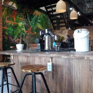 thiết kế quán cà phê Industrial