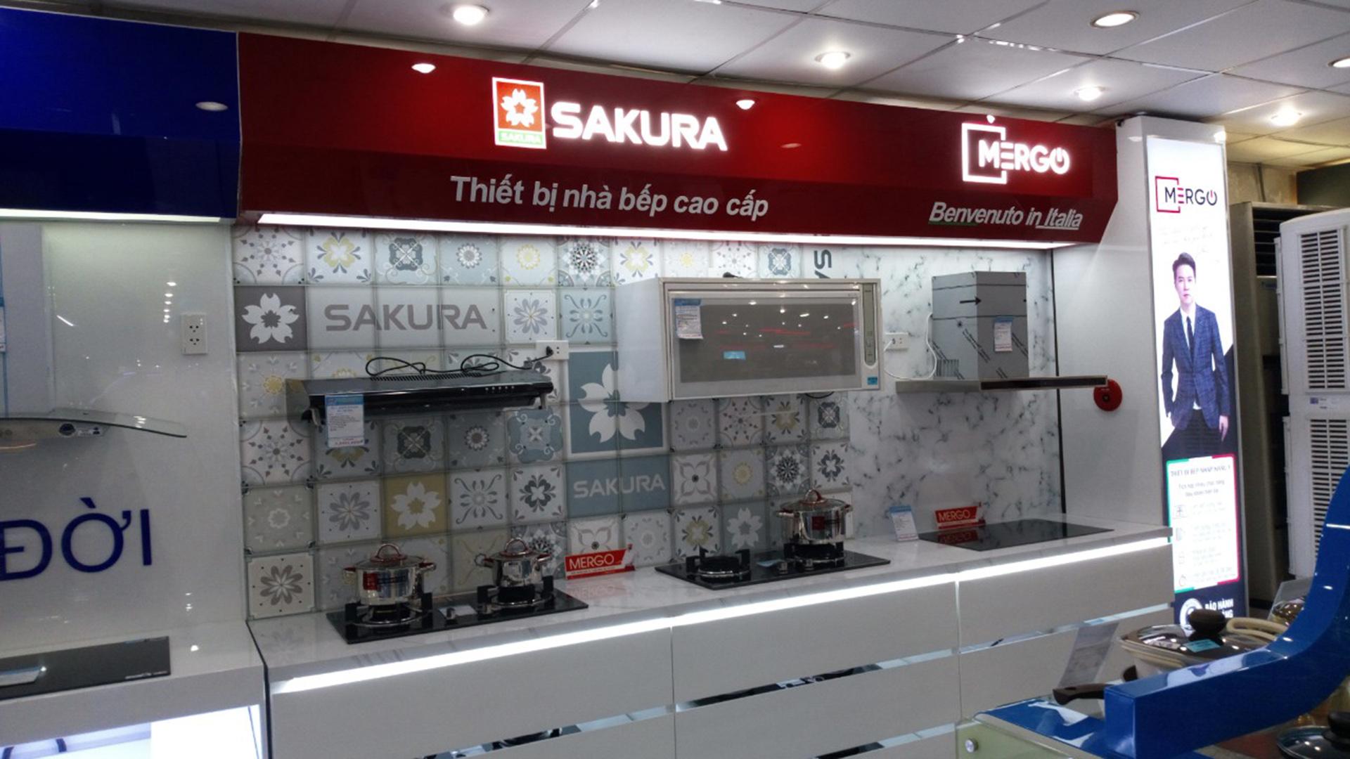Quầy kệ bếp Sakura – CÔNG TY CP XD QC TM HOA SƠN ✔️ Chuyên thi công nội  thất ✔️ Kệ trưng bày ☎️ 090 303 7747 ? hoasondecor@gmail.com
