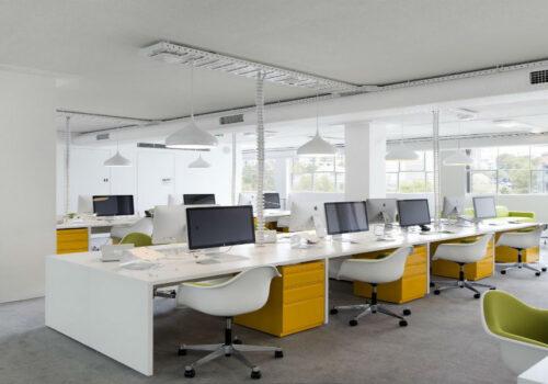Thiết kế thi công nội thất phòng làm việc chung ấn tượng nhất