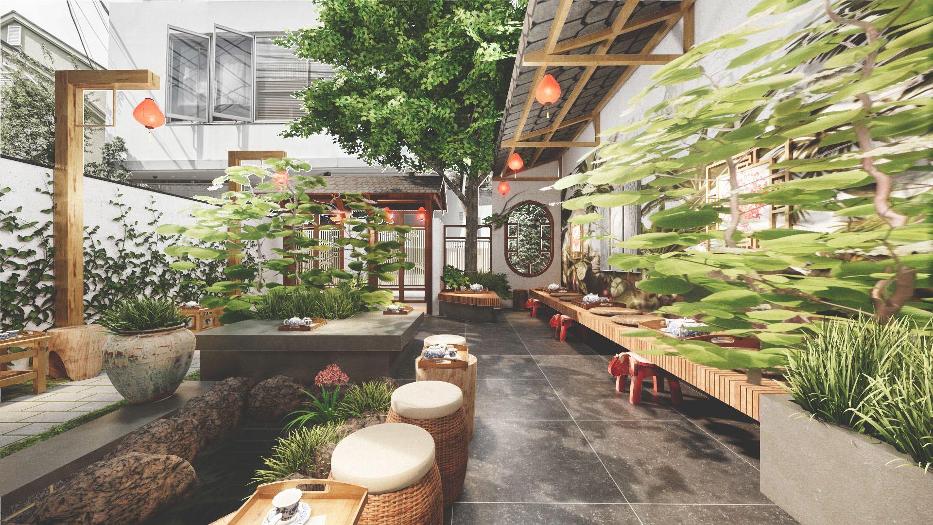 Thiết kế quán trà đạo đẹp với phong cách độc đáo