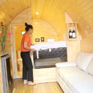 Nhà gỗ di động – đầy đủ như căn nhà phố thu nhỏ