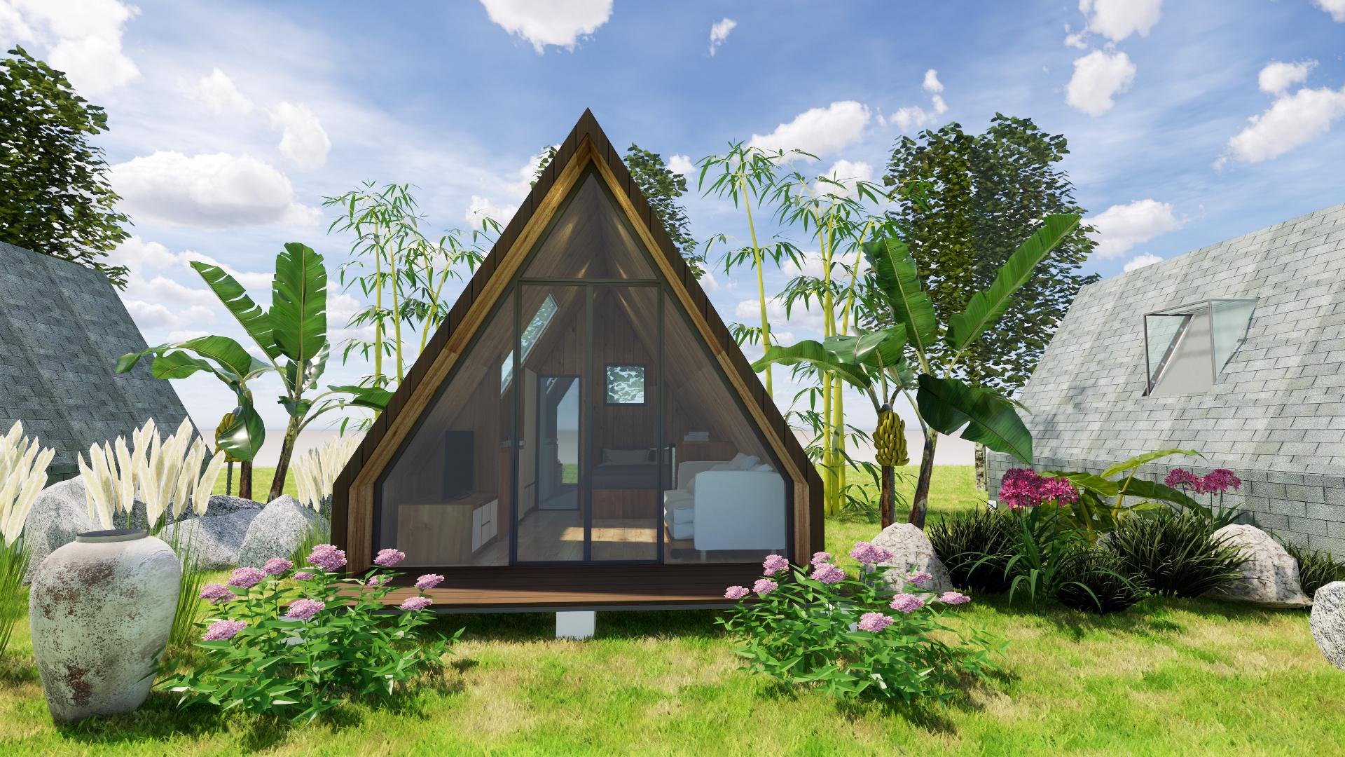 nội thất nhà gỗ bungalow