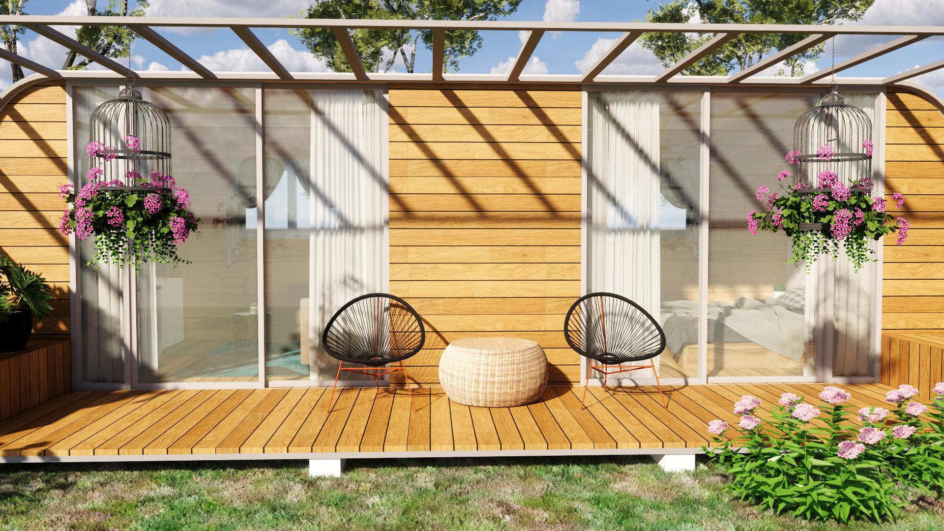 Nhà gỗ di động cho homestay với chi phí thấp cho người ít vốn