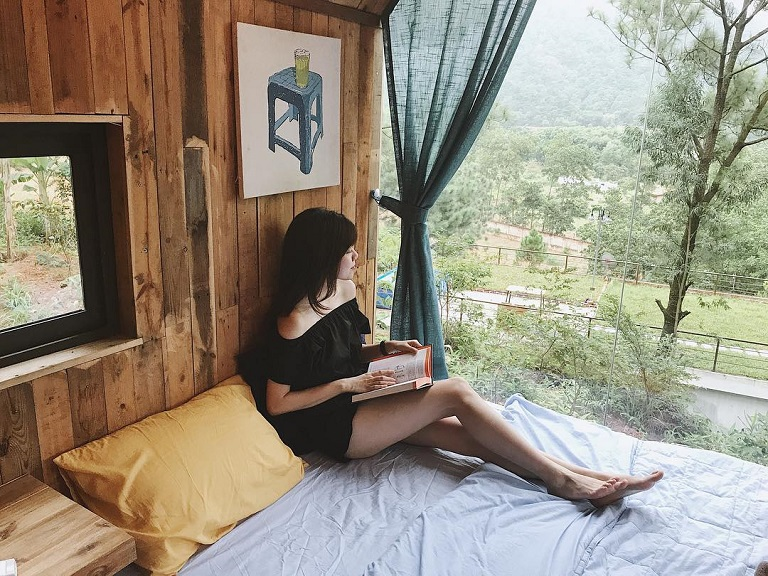 nhà gỗ Homestay cực đẹp rụng tim ngay ở Hà Nội